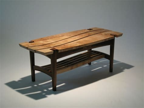 made burl maple coffee table by dogwood design