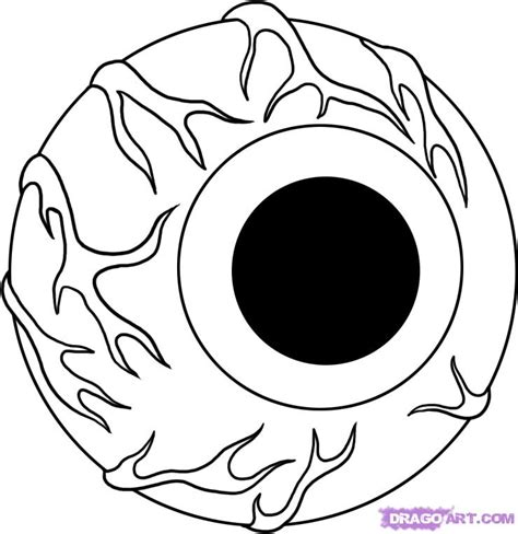 coloring page eyeball how to draw an eyeball step by step halloween seasonal