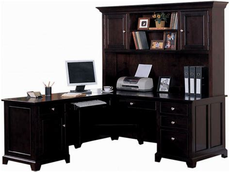 L Shaped Desk With Hutch Home Office Masata Design L Shaped Home Office Desk With Hutch
