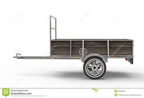 trailer white car trailer on a white background stock illustration