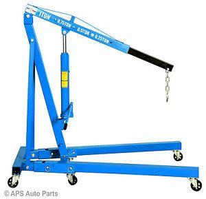 ton tonne hydraulic folding engine crane hoist lift stand wheels kg garage ebay