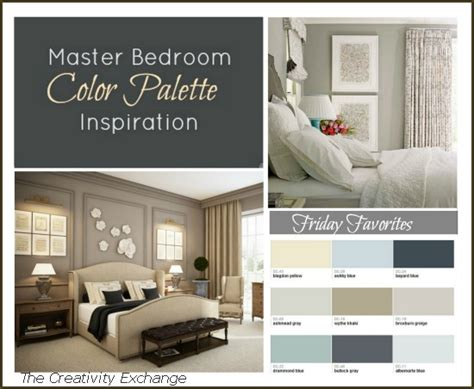 color palettes for bedrooms master bedroom paint color inspiration friday favorites