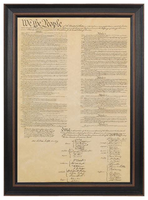 printable constitution poster framed united states constitution traditional prints