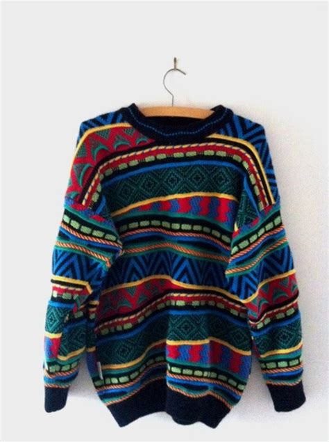 rainbow pattern jumper vintage cosby sweater rainbow knit jumper mod by