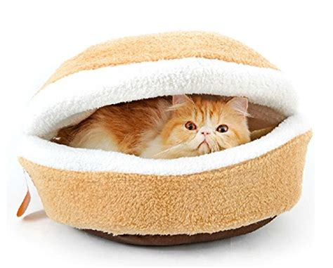 cat hamburger bed kisspet c2 ae hamburger design washable sleeping pets bond