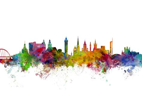 Map Of The World Wall Mural glasgow scotland skyline wall mural amp photo wallpaper