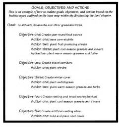 Wildlife Management Plan Template by Management Goals And Objectives Exles
