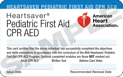 heartsaver aid cpr aed card template corporate business start the