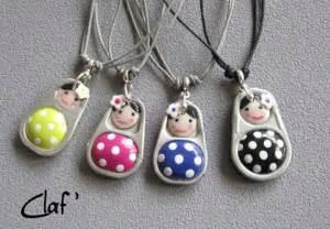 How To Make Clay Jewelry - soda can pop tabs polymer clay little dolls jewelry recyclart