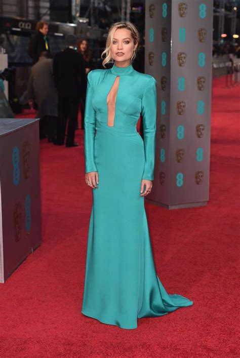 bafta 2016 awards bafta red laura whitmore wearing suzanne neville dress to baftas 2016