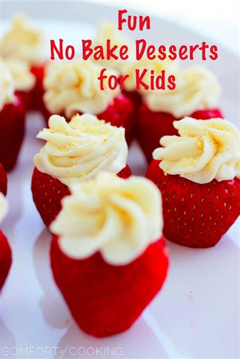 fun kid friendly no bake desserts food pinterest