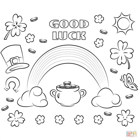 good coloring page websites good luck coloring page free printable coloring pages