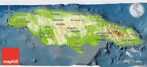 physical map of jamaica physical 3d map of jamaica darken