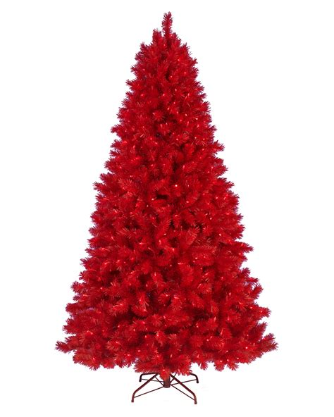 Red Christmas Tree | lipstick red artificial christmas tree treetopia