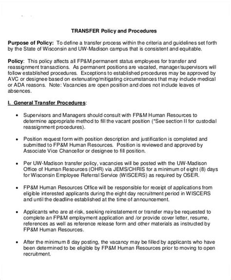 relocation policy template hr transfer letter template 5 free word pdf format