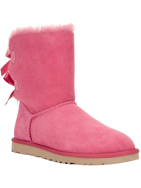 pink ugg boots with bows ugg bailey bow boot in purple lyst