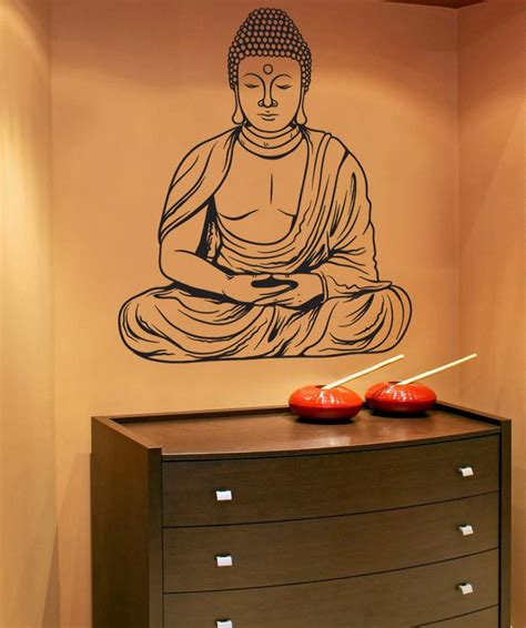buddha wall sticker buddha wall decal buddha wall sticker stickerbrand