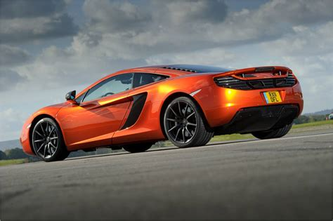 orange mclaren rear mclaren mp4 12c 2012 orange low rear close revival