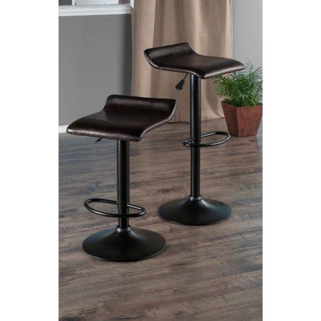 Winsome 2 Pc Swivel Stool Set by Winsome Wood Adjustable Swivel Stools 2 Pc Black