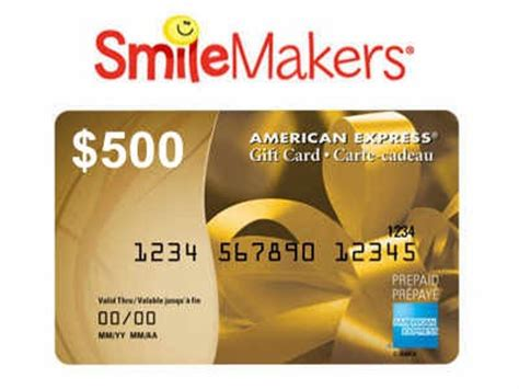 How To Add Money To American Express Gift Card - www smilemakerssurvey com win a 500 american express gift card in the smilemakers