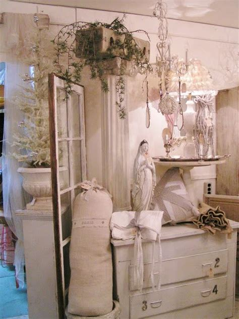 store display with french shabby chic ideas blossoms