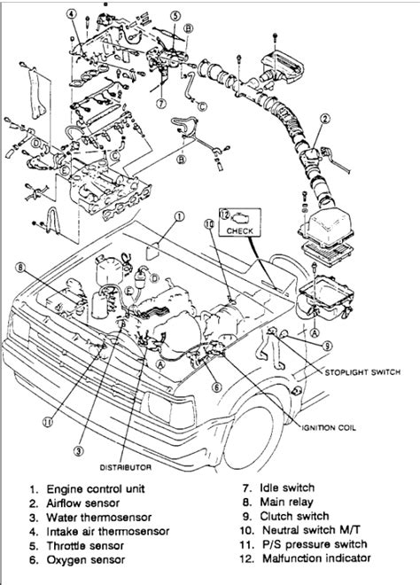 water exploded view of 1992 daihatsu hijet wiring