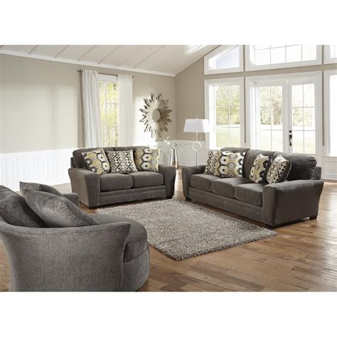 Living Room With Sofa Sax Living Room Sofa Loveseat Grey 32970 Living Room Furniture Conn S