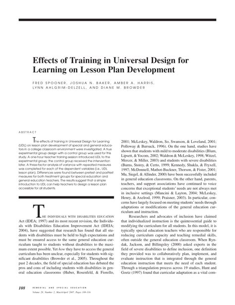 universal design effect effects of training in universal design pdf download