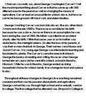 George Washington Carver Essay by Biography Of George Washington Carver At Essaypedia
