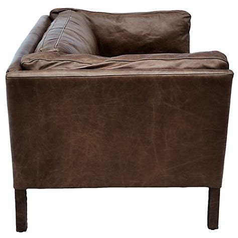 Halo Leather Sofa Buy Halo Groucho Small Aniline Leather Sofa Lewis