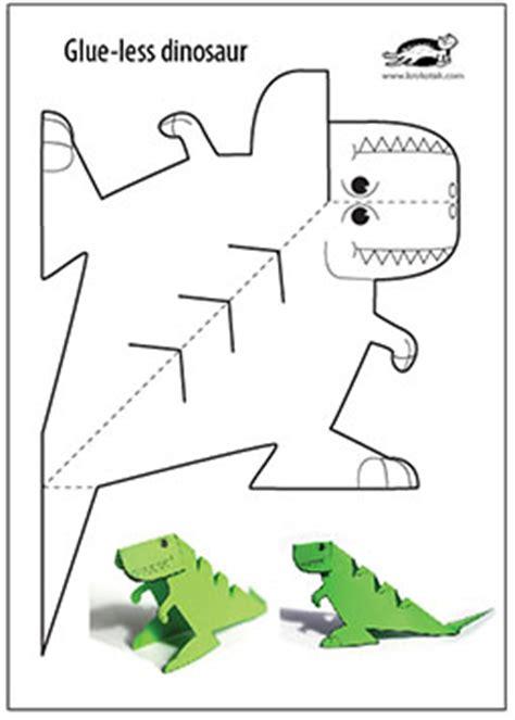 printable kid crafts krokotak glue printable dinosaur