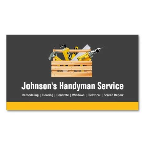 handyman business card template 272 best construction business cards images on