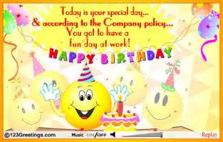 Happy Birthday Co Worker Card 9 Best Images Of Happy Birthday Messages For Co Workers