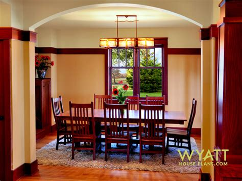 arts and crafts dining room set great chairs and staircase craftsman style interiors