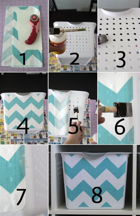 diy fabric storage box with a handle shelterness get organized with easy diy fabric covered storage bins