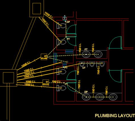 toilet layout in cad toilet plumbing dwg block for autocad designs cad
