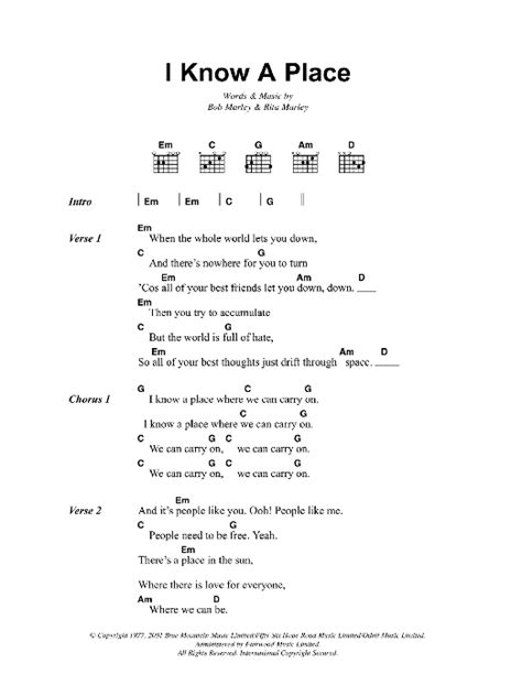 A Place Chords I A Place By Bob Marley Guitar Chords Lyrics Guitar Instructor