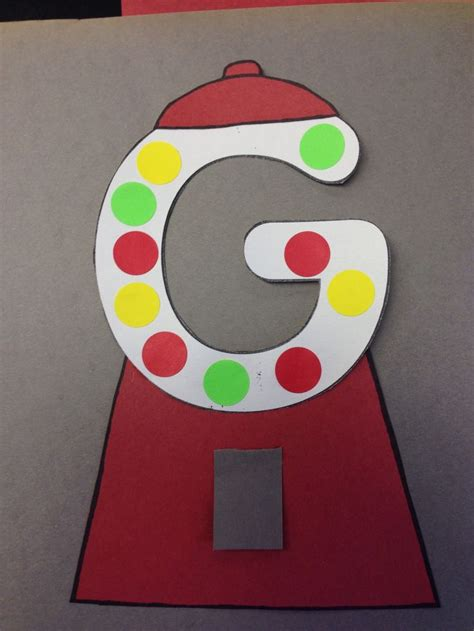 letter g is for gum craft for alphabet