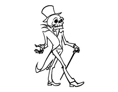 imagenes halloween esqueletos dibujo de se 241 or esqueleto para colorear dibujos de