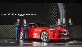 kia motors introduces stinger sports sedan