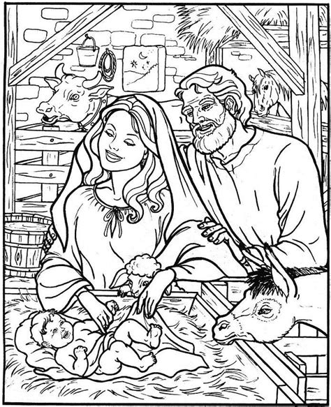 free coloring page of the nativity nativity coloring pages coloring kids