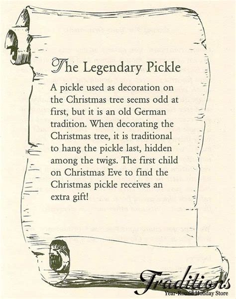 ha the christmas pickle story i had never heard of this