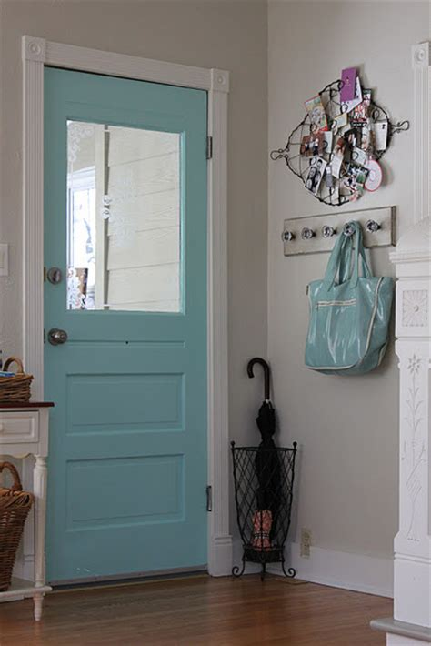 paint the inside of the front door door quot aquaduct quot by sherwin williams home decor