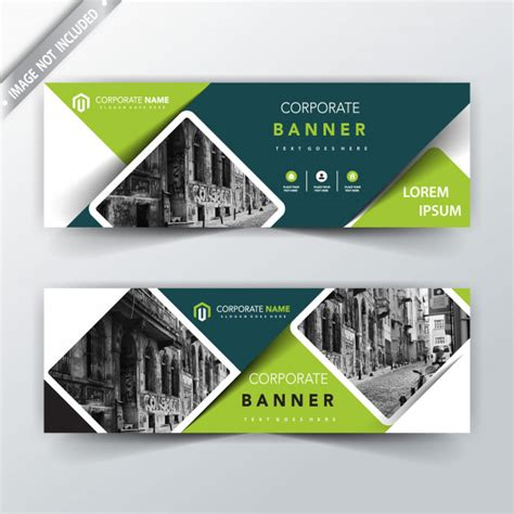 banner design editor green vector back and front banner design vector free