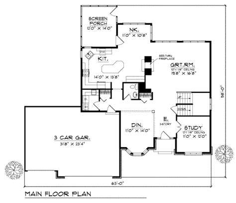 2800 square foot house plans traditional style house plan 4 beds 2 5 baths 2800 sq ft