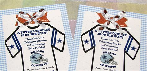 Dallas Cowboys Baby Shower Invitations by Pro Sports Themed Baby Cakes Nfl Mlb Themed