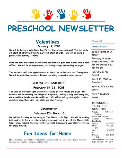 Parent Letter Preschool best photos of february preschool newsletter sles february preschool newsletter template