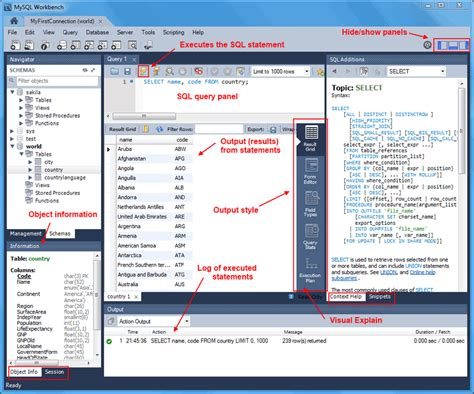 sql bench mysql mysql workbench manual 8 1 1 sql query window