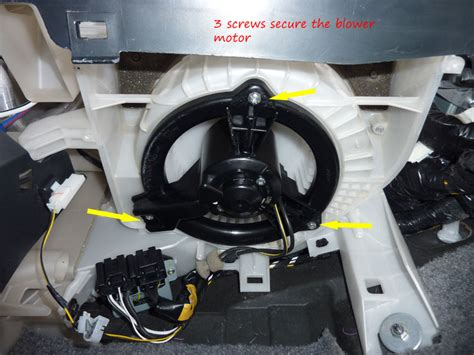 blower motor removal on a 2010 toyota fj cruiser trying to replace a heater blower motor all instructions say just remove three screws in awhile