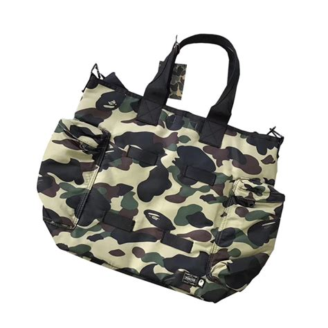Bathing Ape Sling Bag Camo a bathing ape porter 1st camo tote bag green
